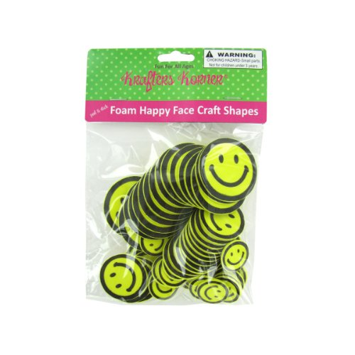 Foam Happy Face Craft Shapes