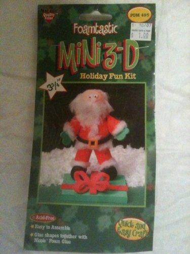 Foamtastic Mini 3D Holiday Fun Kit Foam Glue Santa