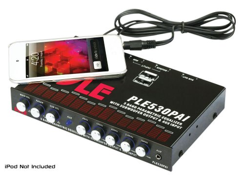 Pyle 1/2 Din 5 Band Parametric Equalizer With Built-In Crossover And Subwoofer Control