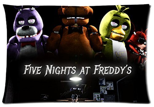 Bedroom Decor Custom Five Nights At Freddy's Pillowcase Zippered Two Sides Design Printed 16x24 pillows Throw Pillow Cover Cushion Case Covers