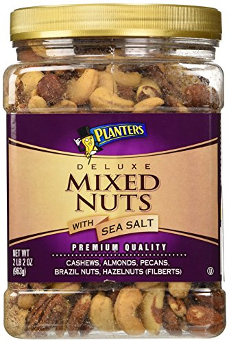Planters Deluxe Mixed Nuts with Sea Salt - 34 oz. (Deluxe Salted Nuts compare prices)