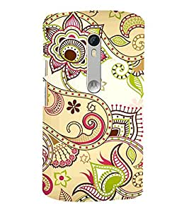 Indian Ranogli Pattern Art 3D Hard Polycarbonate Designer Back Case Cover for Motoroal Moto X Play