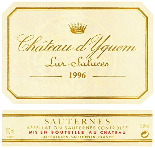 1996 Chateau Yquem Sauternes Bordeaux 375 Ml