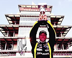 Buy AUTOGRAPHED 2011 Paul Menard #27 FIRST WIN (Brickyard) NASCAR 8x10 Photo by Trackside Autographs