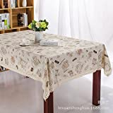 Eazzzy Fashion Linen Cotton Table Cloth Cover Home Decoration Ikea Vintage Print Flower Foral Strawberry Toalha Mesa (35