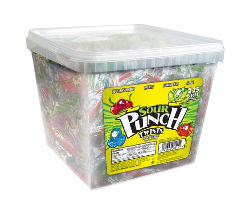 Sour Punch Sour Punch Twists, 4-Flavor Variety Pack, 44.48-Ounce Tubs (Pack of 2)