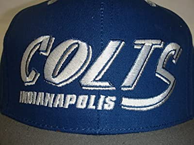New NFL Indianapolis Colts Two Tone Vintage Snapback Flatbill Cap / Hat