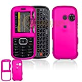 Hot Pink Rubber Feel Snap-On Cover Hard Case Cell Phone Protector for LG Ru ....