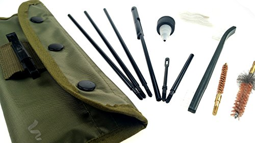 Wydan Field .223/5.56 Cleaning Kit - Rifle Gun Cleaning Kit Compact Travel Size Mil-Spec Rods Metal Brush Heads Olive Green Pouch Bag Case Drab Travel Size Maintenance Kit (Portable Gun Cleaning Kit compare prices)