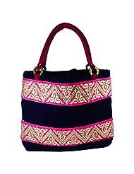 Arisha Kreation Co Velvet Formal Women's Hand Bag(Royal Blue)