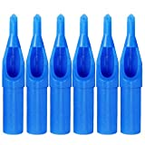 Wormhole® 50pcs Tattoo Supply Sterile Tattoo Blue Plastic Disposable Tattoo Tips-round,flat/magnum,diamond (9DT)
