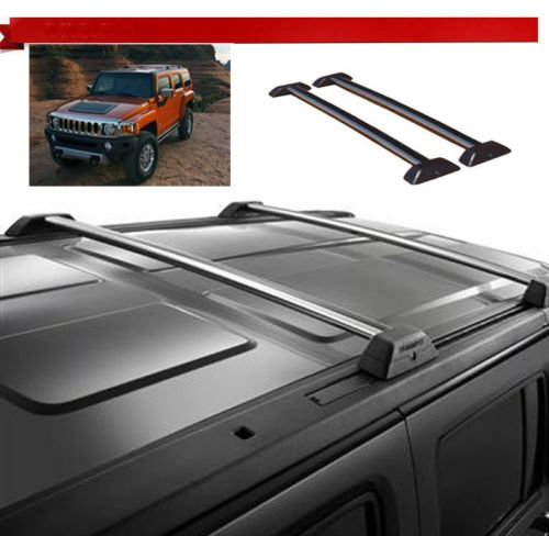 06 07 08 09 10 Hummer H3 OE Style Roof Rack Cross Bars Set W/ Lock H3T Luggage (Luggage Rack Hummer H3 compare prices)