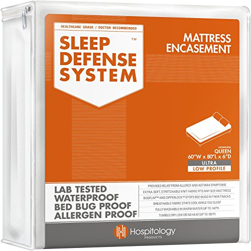Sleep Defense System - Waterproof / Bed Bug Proof Mattress Encasement - 60-Inch by 80-Inch, Queen - ULTRA-LOW PROFILE 6