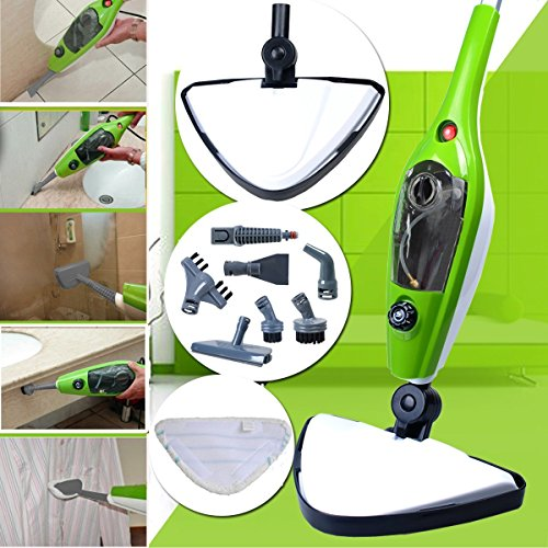 Cheapest Price! CUH 1500w 10 in 1 Multifunction Steam Mop Floor Steam Cleaner with 3 Replacement Pad...