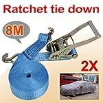 SWT 2x Heavy Duty 8mx50mm Ratchet Tie...