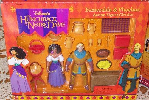 Buy Low Price Mattel DISNEY THE HUNCHBACK OF NOTRE DAME ESMERALDA & PHOEBUS ACTION FIGURE GIFT SET (B002E7ZZUM)