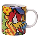 Disney by International Artist Romero Britto for Enesco Donald Duck Mug 4.25 IN