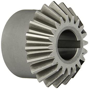 "Boston Gear HL153Y-P Bevel Pinion Gear, 1.5:1 Ratio, 0.750"" Bore, 10 Pitch, 20 Teeth, 20 Degree Pressure Angle, Straight Bevel, Keyway, Steel with Case-Hardened Teeth"