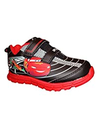 Disney Cars Boys Lightweight Red & Black Tennis Shoe Sneaker