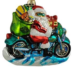 Amazon.com: Free Wheeling Santa, Christopher Radko