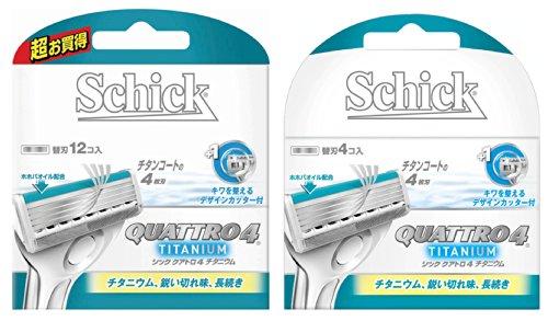 シック クアトロ4 チタニウム 替刃16コ入