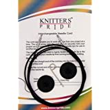 Knitter's Pride Interchangeable 8-inch (20cm) Black Silver Cord to make 16-inch (40cm) IC Knitting Needle 800101