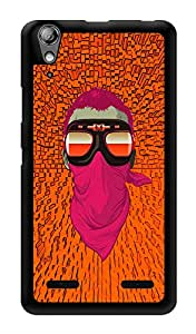 """Humor Gang Motorcycle Masked Man Printed Designer Mobile Back Cover For """"Lenovo A6000"""" (3D, Glossy, Premium Quality Snap On Case)"""
