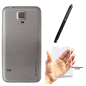 DMG PHNT Premium Scratch-Resistant Ultra Thin Clear TPU Skin Case for Samsung Galaxy S5 (Clear) + Touch Screen Stylus