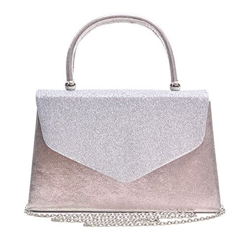 dasein-womens-top-handle-clutch-evening-bag-w-frosted-glittering-body-and-silver-chain-strap-silver