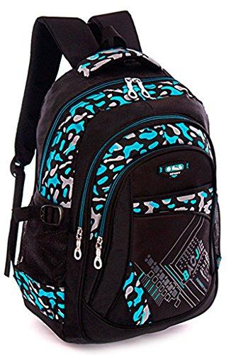 Black Nylon Double Shoulders Backpack Nice for School Students