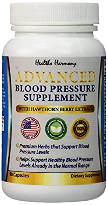 Best Blood Pressure Support Supplement - Premium Natural Herbs and Vitamins - Including High Dosage of Hawthorn Berry Extract - Naturally Widen Blood Vessels - Lower Pills - 90 Capsule Supply - 100% Money Back Guarantee