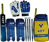 Vkey 20/20 Kids Cricket Set Blue/Yellow size 3