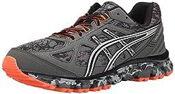 ASICS Men\'s Gel Scram 2 Running Shoe, Gunmetal/Silver/Hot Orange, 8.5 M US