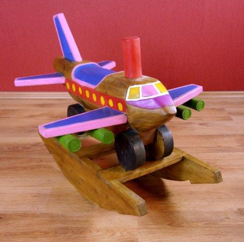 Kinder Schaukflugzeug aus Holz (massiv), Schaukeltier