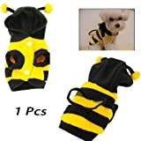 Bumblebee Halloween Costume Clothes Apparel Dress Up For Small Pet Dog-yellow And Black(size#8 Length?22cm Chest...