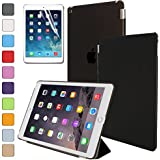 Besdata Magnetic Smart Cover Stand + Hard Back Case for Apple iPad Air 2 (2014 Version) + Screen Protector + Stylus + Cleaning Cloth - Protects the Device - Black - PT9800