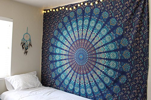 Handmade-Cotton-Mandala-Bedspread-Throw-Bohemian-Backdrop-Medallion-Yoga-Meditation-Picnic-Garden-Beach-Throw-Boho-Gypsy-Dorm-Decor-Living-Room-Hippie-Hippy-Wall-Hanging-Tapestry