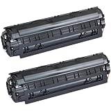 Compatible CE285A 85A Black Toner Cartridge Replacement for HP LaserJet Pro M1132 M1134 P1102W, M1130, M1210 (Black, 2-pack)