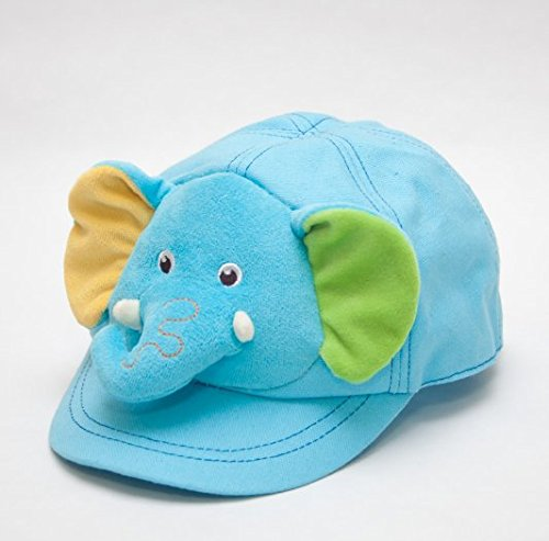 Capped Children Animals, Elephant Hat, Blue Hat With Adjustable Strap On The Back front-495550