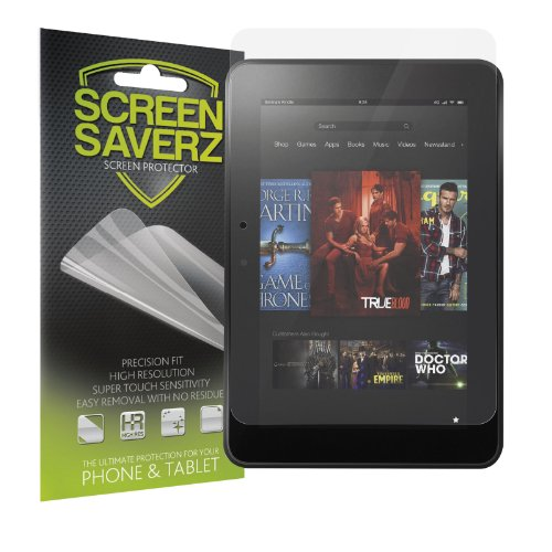 """Screensaverz Hd Clear Screen Protector Shield For Amazon Kindle Fire Hd 8.9"""" (3-Pack) + Lifetime Replacement Warranty"""