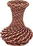 Hardik Creations Cane Flower Vase (20 cm x 10 cm x 17 cm, Brown)