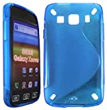 Cellmax Samsung Galaxy Xcover S5690 Gel Back Protection Case Cover Skin Pouch With S-Line Pattern - Blue