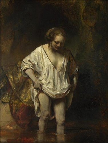 The High Quality Polyster Canvas Of Oil Painting 'Rembrandt Harmenszoon Van Rijn - A Woman Bathing In A Stream,1654' ,size: 12x16 Inch / 30x40 Cm ,this High Quality Art Decorative Prints On Canvas Is Fit For Basement Decor And Home Decoration And Gifts (West End Griddle compare prices)