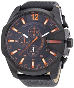 Diesel Herren-Armbanduhr XL Mega Chief Chronograph Quarz Leder DZ4291