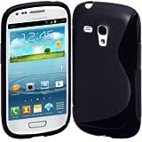 Case Flexible TPU Cover for Samsung Galaxy S III mini - Black by Cimo