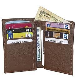 Brown Mens Leather Card Holder Wallets