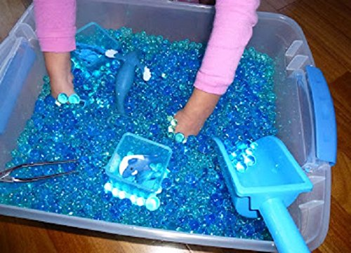 Jelly BeadZ 3 Color-Blue-Water Bead Gel, 3 Pks of 10 Grams Per Pack (Small Jelly Beads compare prices)
