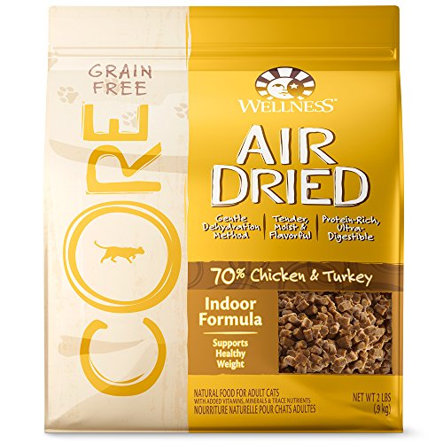 Wellness CORE Air Dried Natural Grain Free Dry Indoor Cat Food, Chicken & Turkey, 2-Pound Bag (Wellness Canned Cat Food Core compare prices)