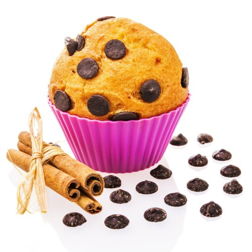 Cupcake Liners - 12 Reusable BPA Free Silicone Baking Cups In 6 Assorted Vibrant Colors - Perfect For Bento Lunch Boxes And Bakeware For Muffins, Ice Cream, Snacks, Jello And More - Buy With Confidenc