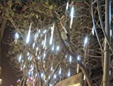 white color 20cm 96-LED Meteor Shower Rain 8 Tubes Lights Outdoor lamp christmas light Tree Decoration 100V-240V